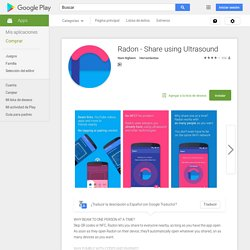 Radon - Share using Ultrasound - Aplicaciones Android en Google Play