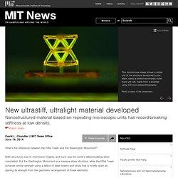 New ultrastiff, ultralight material developed