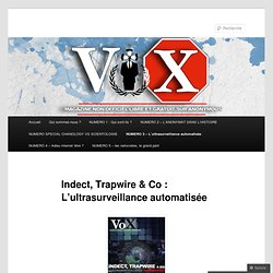 Indect, Trapwire & Co : L'ultrasurveillance automatisée