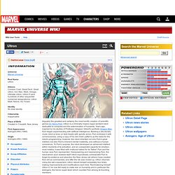 Ultron - Marvel Universe Wiki: The definitive online source for Marvel super hero bios.