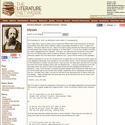 Ulysses by Lord Alfred Tennyson