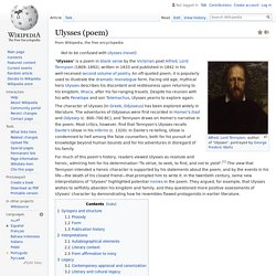 Ulysses (poem) - Wikipedia