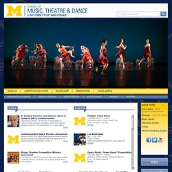 UM School of Music, Theatre & Dance
