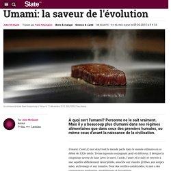 Umami: la saveur de l'évolution