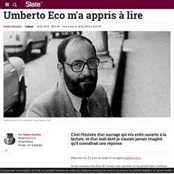 Umberto Eco m'a appris à lire