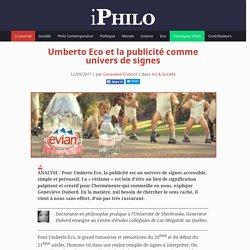 Umberto Eco et la publicité comme univers de signes