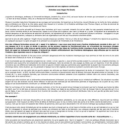 Umberto Eco - La pensee est une vigilance continuelle