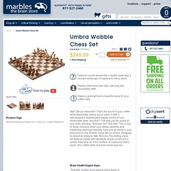 Umbra Wobble Chess Set - Marbles: The Brain Store
