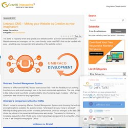 Umbraco CMS - Making your Website as Creative as your Imagination!