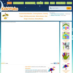 Umbrella coloring with addition game - Kids Coloring Games - Kids Websites