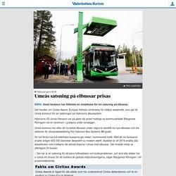 Umeås satsning på elbussar prisas