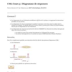 UML Cours 5 : Diagramme de séquences
