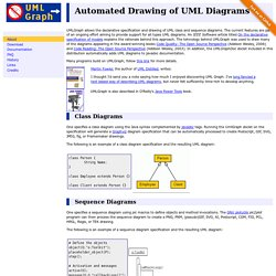 UMLGraph - Declarative Drawing of UML Diagrams