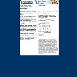 Carbohydrate Calculator