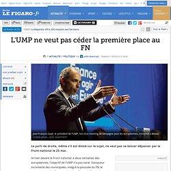 L'UMP ne veut pas céder la première place au FN