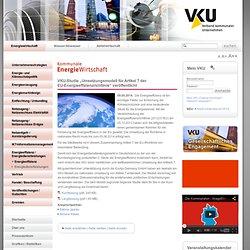 """Verband kommunaler Unternehmen e. V.: VKU-Studie """"Umsetzungsmodell für Artikel 7 der EU-Energieeffizienzrichtlinie"""" veröffentlicht"""