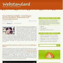 - Grosse Hintergrundbilder - Anmerkungen zur User Experience, Performance und Umsetzungsvarianten
