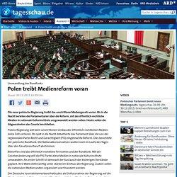 Umwandlung des Rundfunks: Polen treibt Medienreform voran