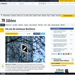 Un air de Lehman Brothers