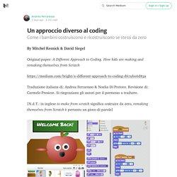 Un approccio diverso al coding