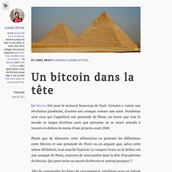 Un bitcoin dans la tête