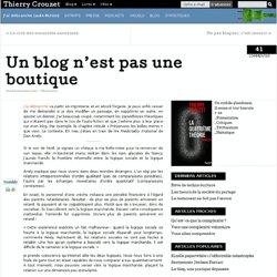 Un blog n'est pas une boutique