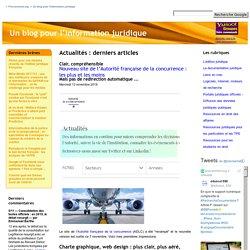 Un blog pour l'information juridique