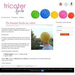 Un bonnet facile en coton