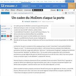 Un cadre du MoDem claque la porte
