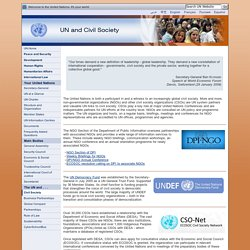 UN and Civil Society
