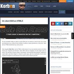 Un client SSH en HTML5 « Korben Korben