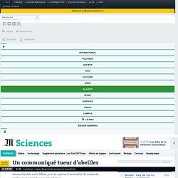 LE MONDE SCIENCES 27/06/16 Un communiqué tueur d'abeilles (concerne le thiaméthoxame)