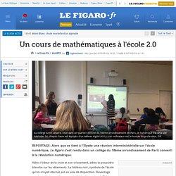 Un cours de mathématiques à l'école 2.0