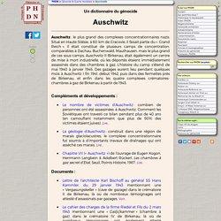 Un dictionnaire : Auschwitz