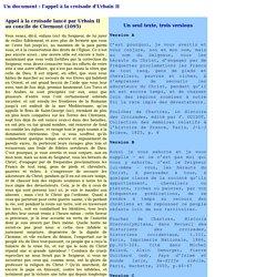 Un document : l'appel à la croisade