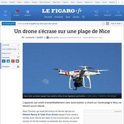 Un drone s'écrase sur une plage de Nice