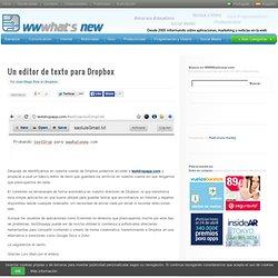 Un editor de texto para Dropbox