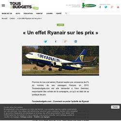 « Un effet Ryanair sur les prix »