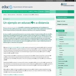 Un ejemplo en educación a distancia