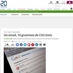 Un email, 19 grammes de CO2 émis