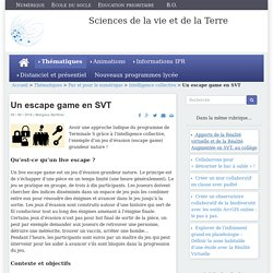 Un escape game en SVT