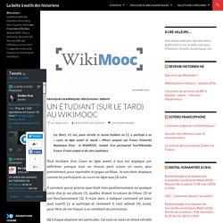 Un étudiant (sur le tard) au WikiMOOC