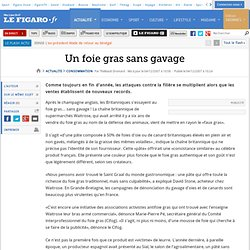 LE FIGARO 04/12/07 Un foie gras sans gavage