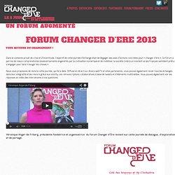 Un forum augmenté » Forum Changer d'ère