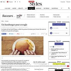 Un hamburger pour aveugle