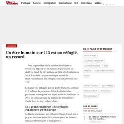 Un être humain sur 113 est un réfugié, un record