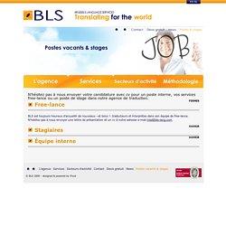 Un job ou un stage dans une agence de traduction?