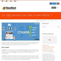 Un LMS permet-il de créer un bon MOOC?
