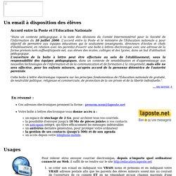 Un e-mail avec education.laposte.net