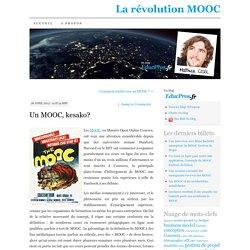 Un MOOC, kesako?